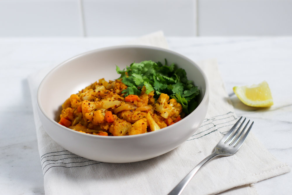 Red Lentil Cauliflower Curry