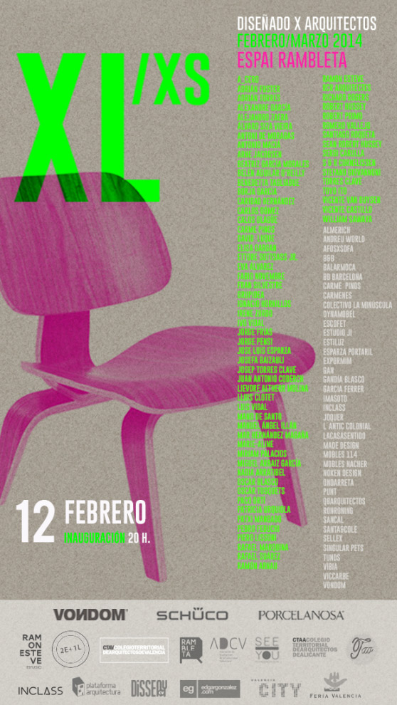 "Selected for the exhibition ""DESIGNED BY ARCHITECTS"", curated by architect-designer Ramón Esteve."