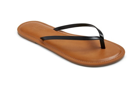 These Target (I think they're Mossimo) flip flops are $10 and I wear them all summer. They're my favorites.
