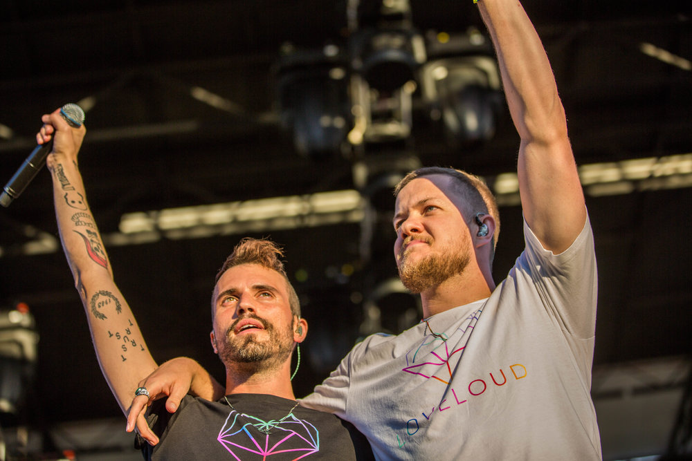 Tyler Glenn (Neon Trees) and Dan Reynolds (Imagine Dragons) at Love Loud Festival 2017 →