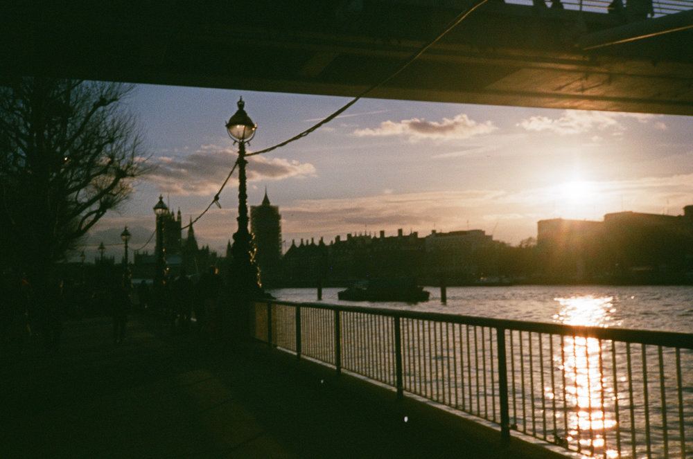 Evening on the Southbank on 35mm.