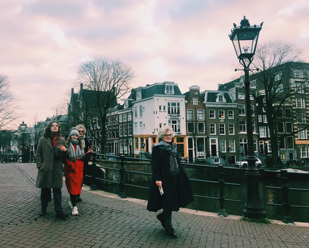 Some of my beautiful family in beautiful Amsterdam.