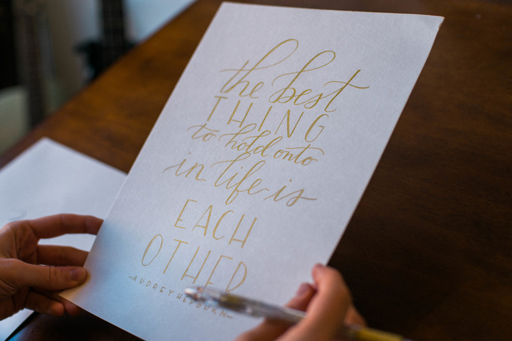 Calligraphy by: Ginger Swan of Swan Lindsey Lettering