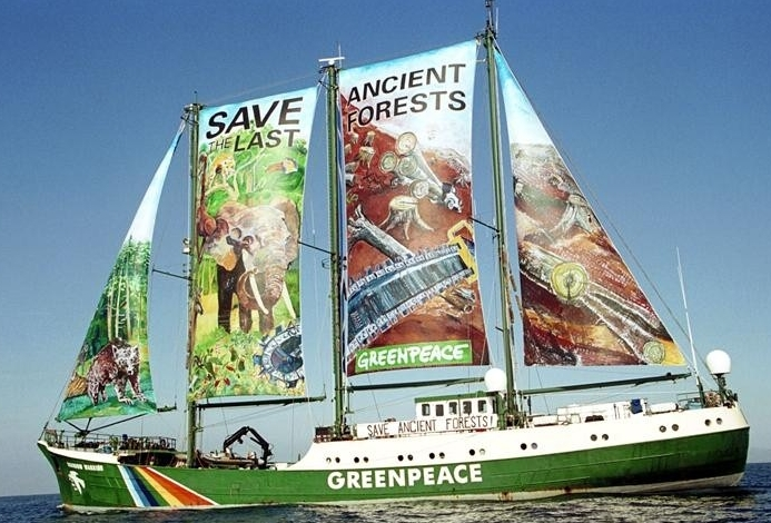 I have loved Greenpeace from the moment my 1970s child eyes saw that clip of them in that tiny boat between the whaling ship and the whale.