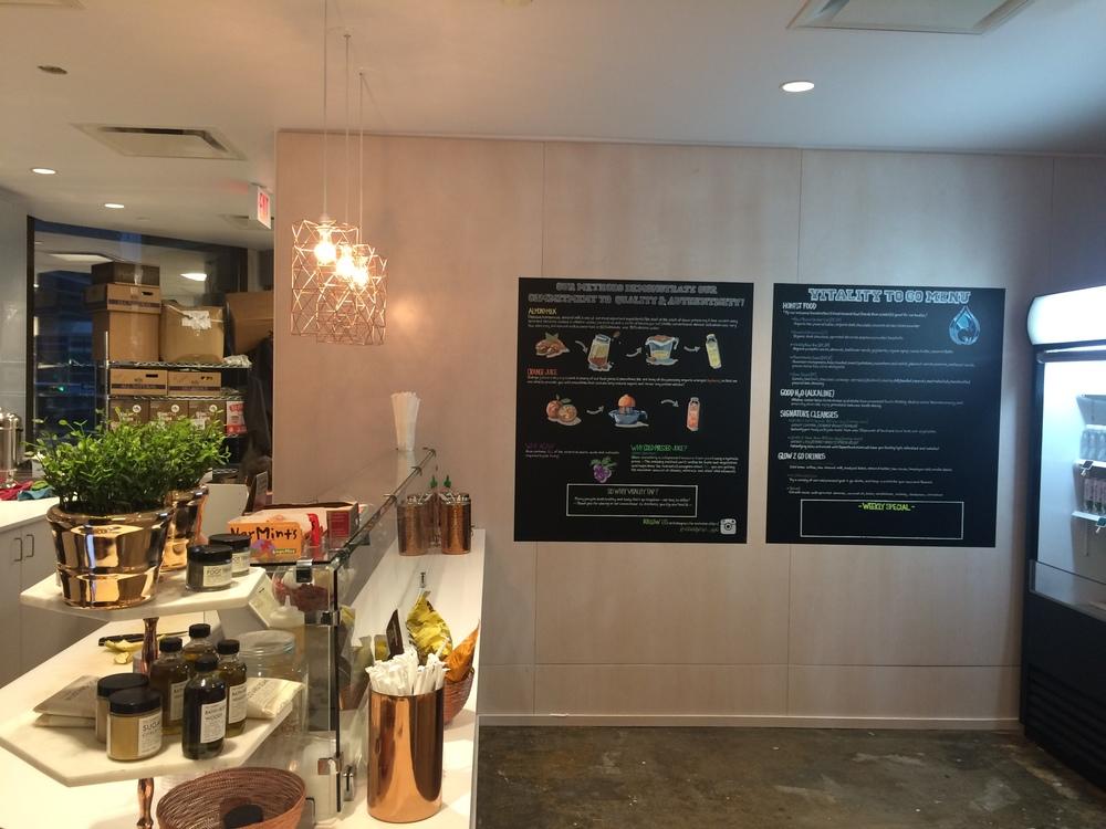 - chalkboard menus -
