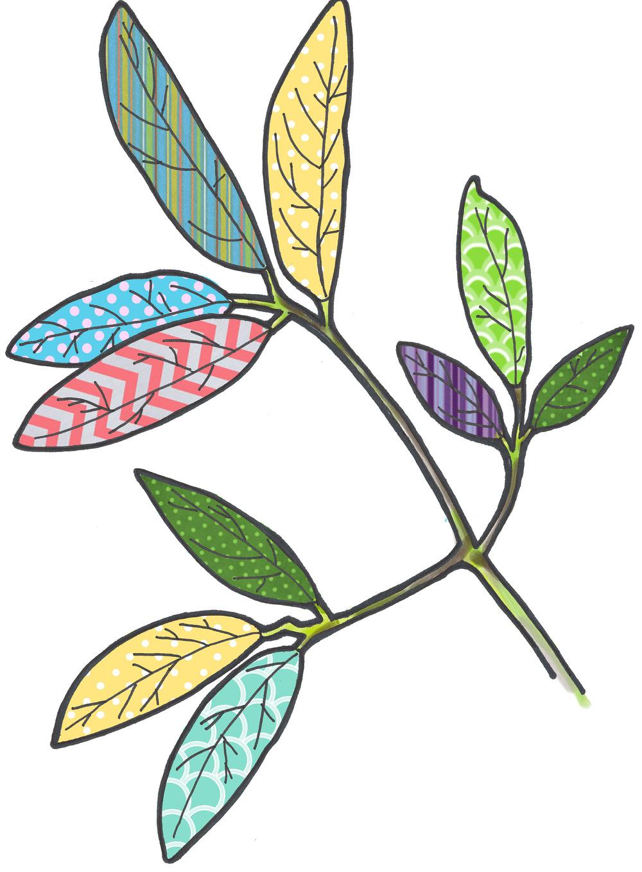 - oak leaves illustration -