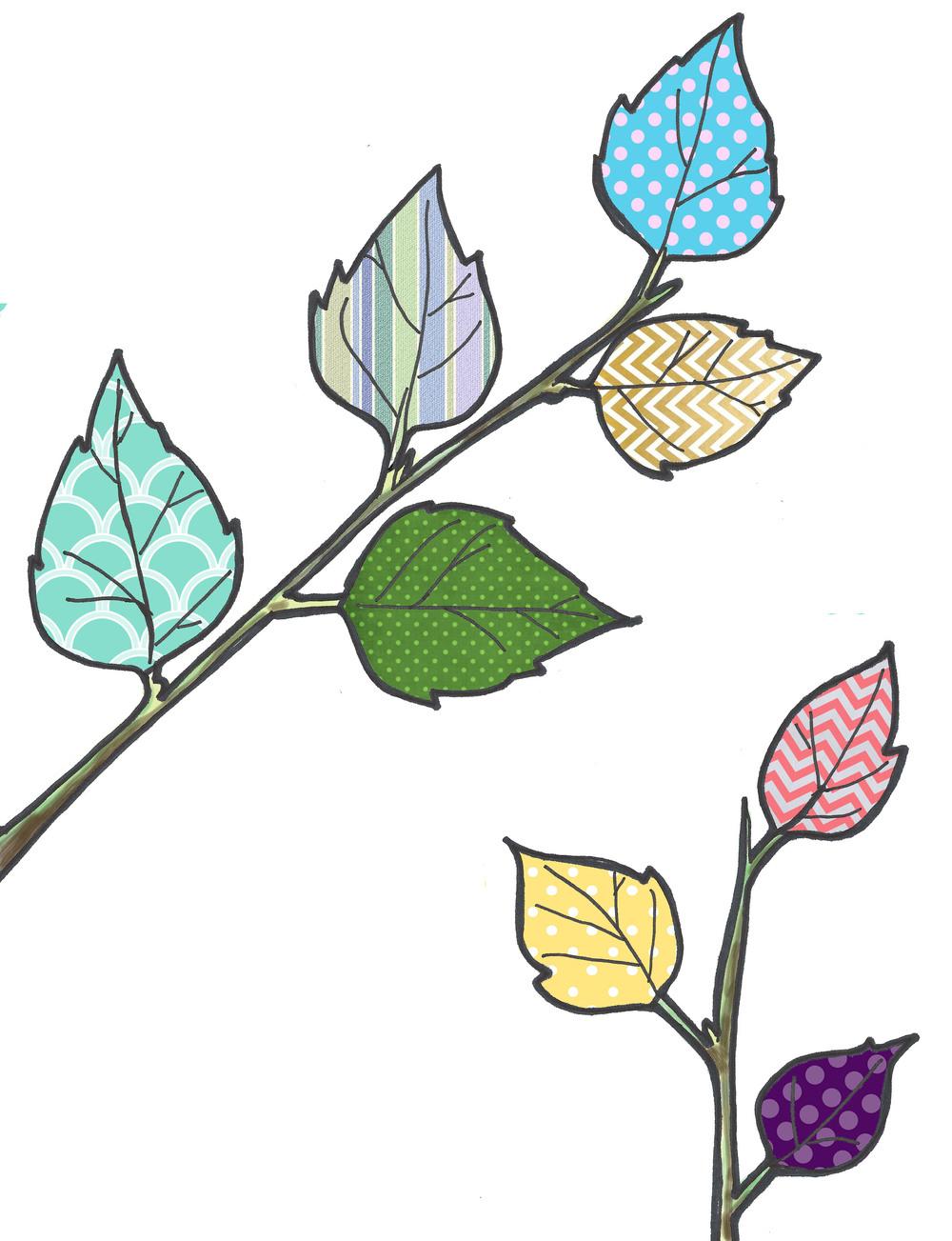 - birch leaves illustration -
