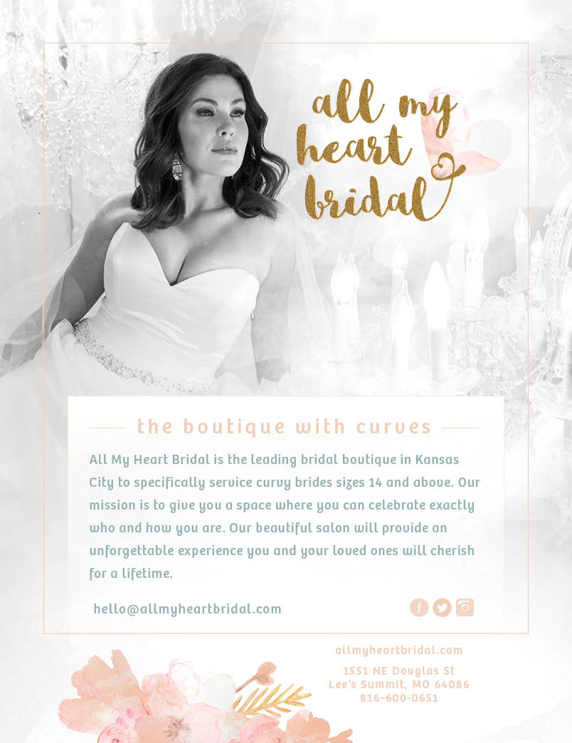 Our beautiful KC Weddings ad from Twiggy Media