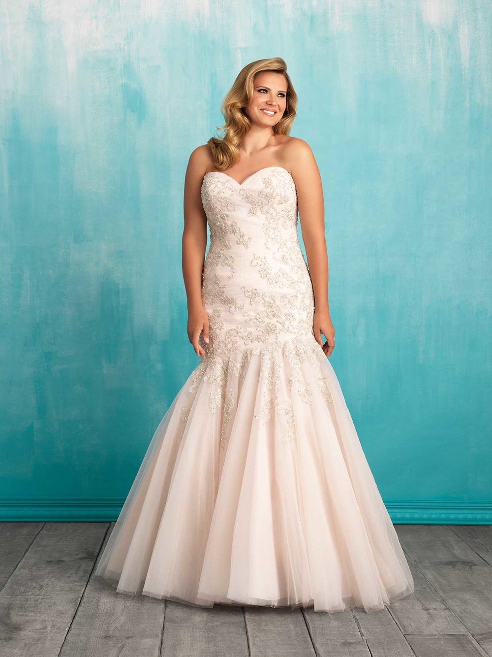 W372 in Champagne/Silver from Allure Bridals