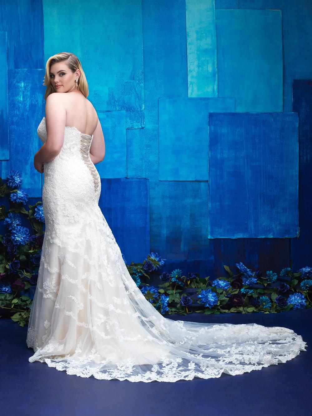 Allure Bridals W391 Back