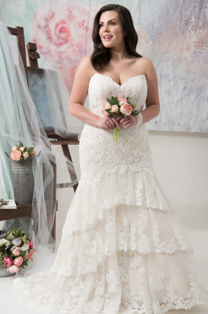 Carolina | Callista Bridal | Plus Size Wedding Dress | All My Heart Bridal