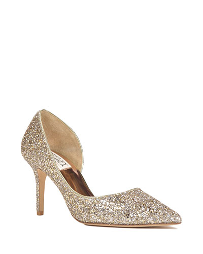 Daisy | Badgley Mischka Wedding Shoe | Glittery Wedding Shoe | All My Heart Bridal | Plus Size Bridal Salon