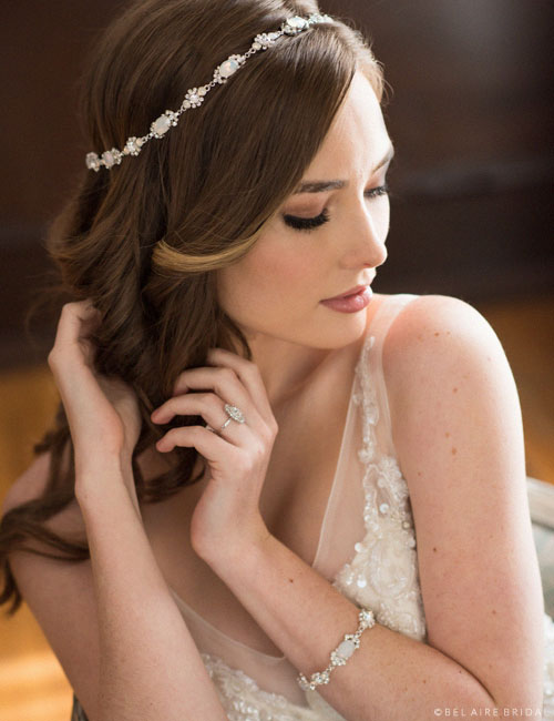 Head Piece | Opal Bridal Accessory | All My Heart Bridal | Plus Size Bridal Salon
