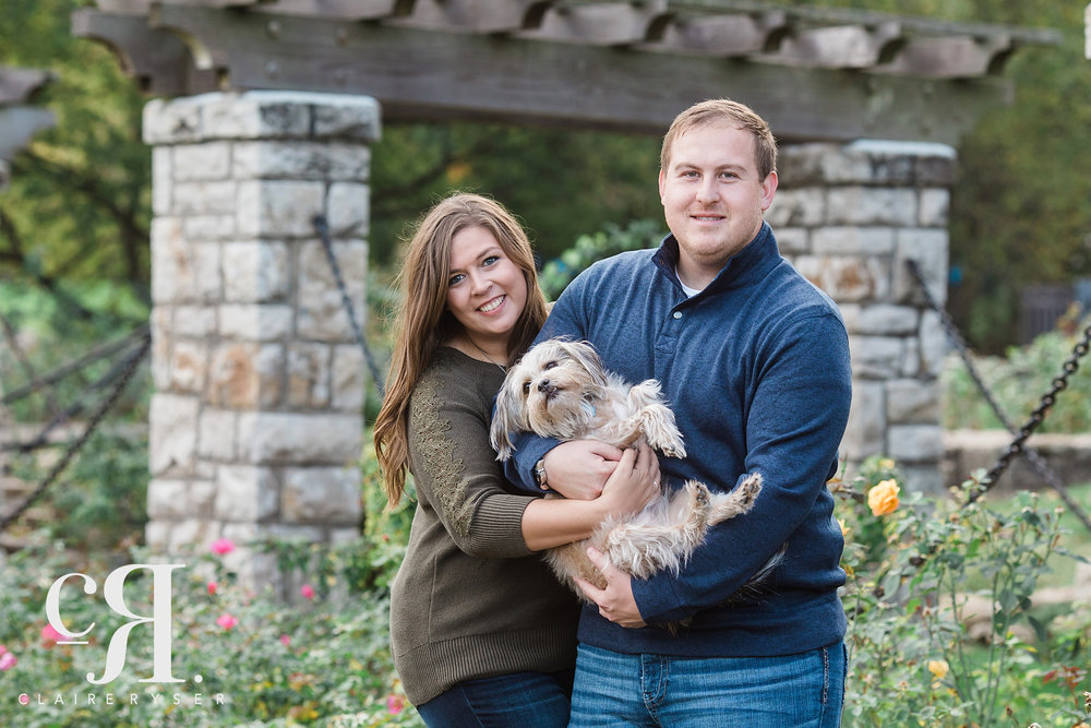 Holding Dog Engagement