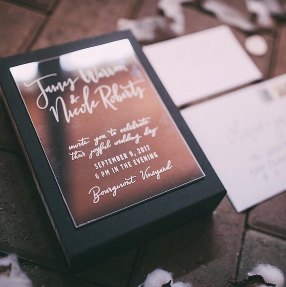 Plexiglass Invitation | Kansas City Wedding Invitations