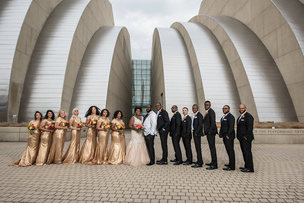 Bridal Party at Kauffman Center