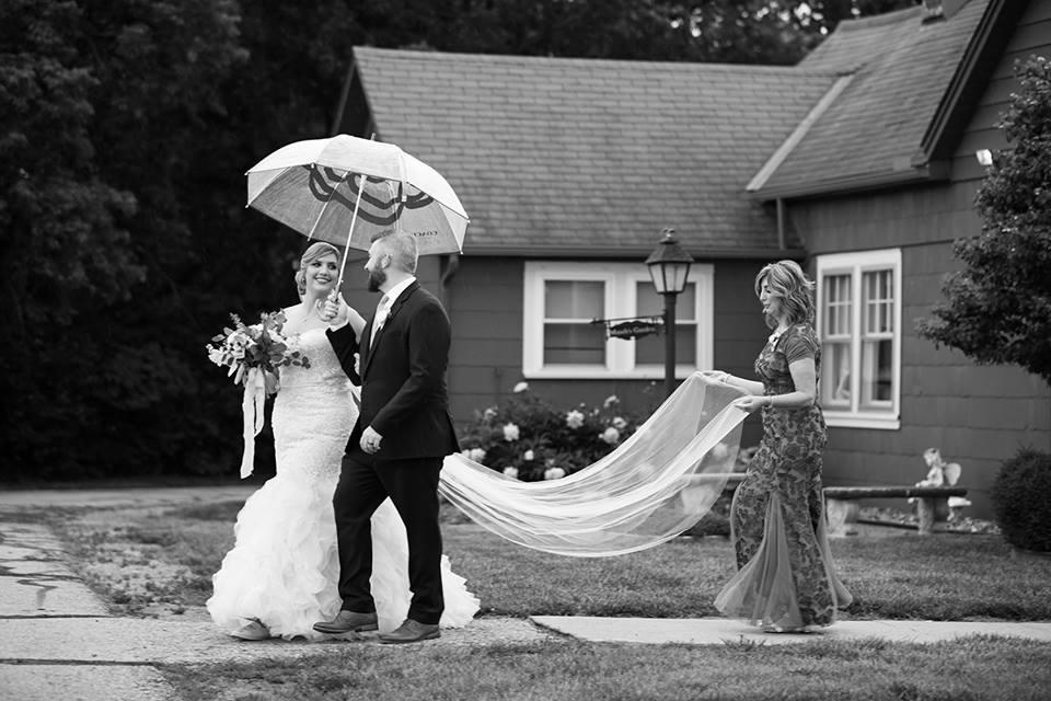 Bride & Groom Walking to Ceremony