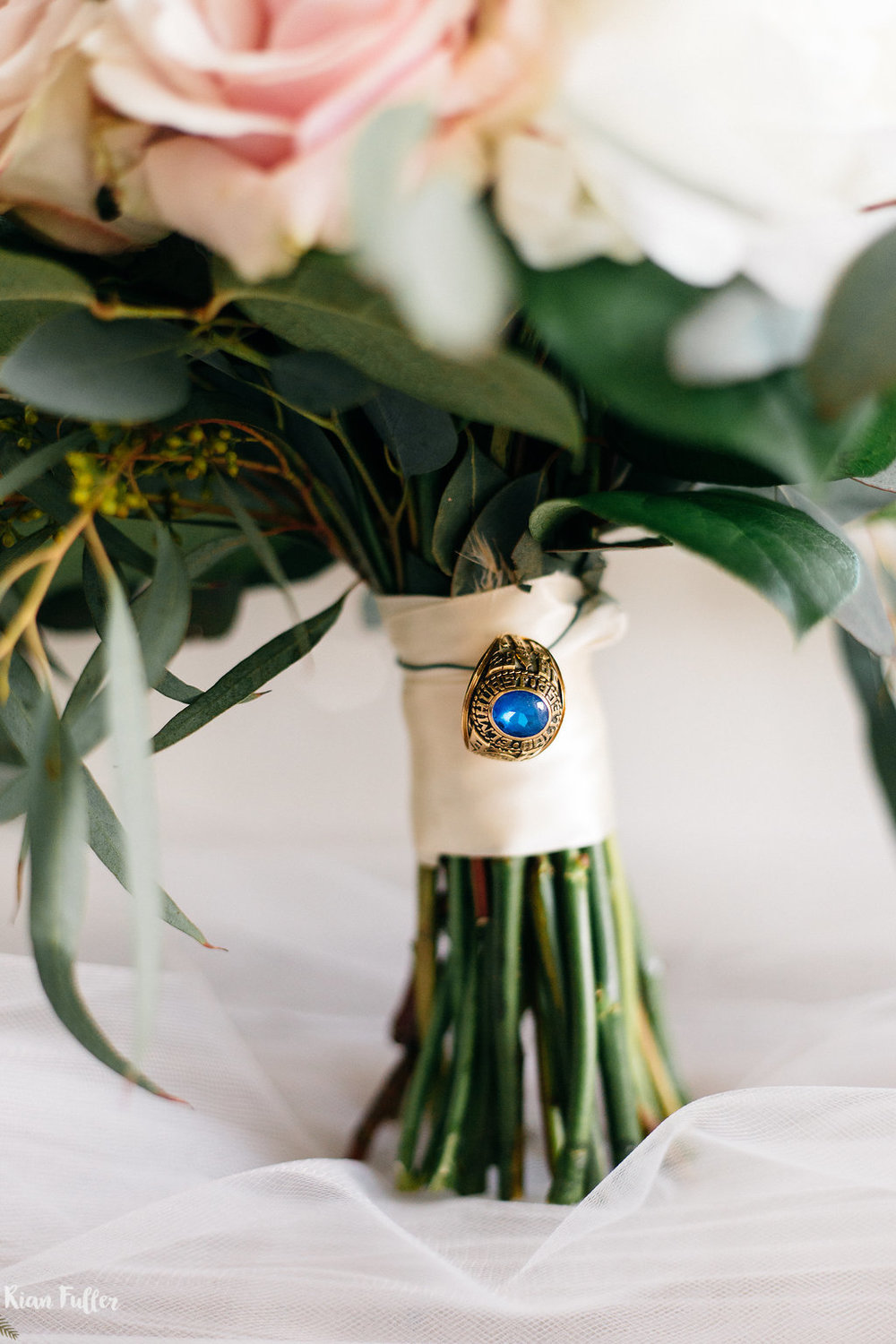 Bridal Bouquet with Ring | Rian Fuller Photography