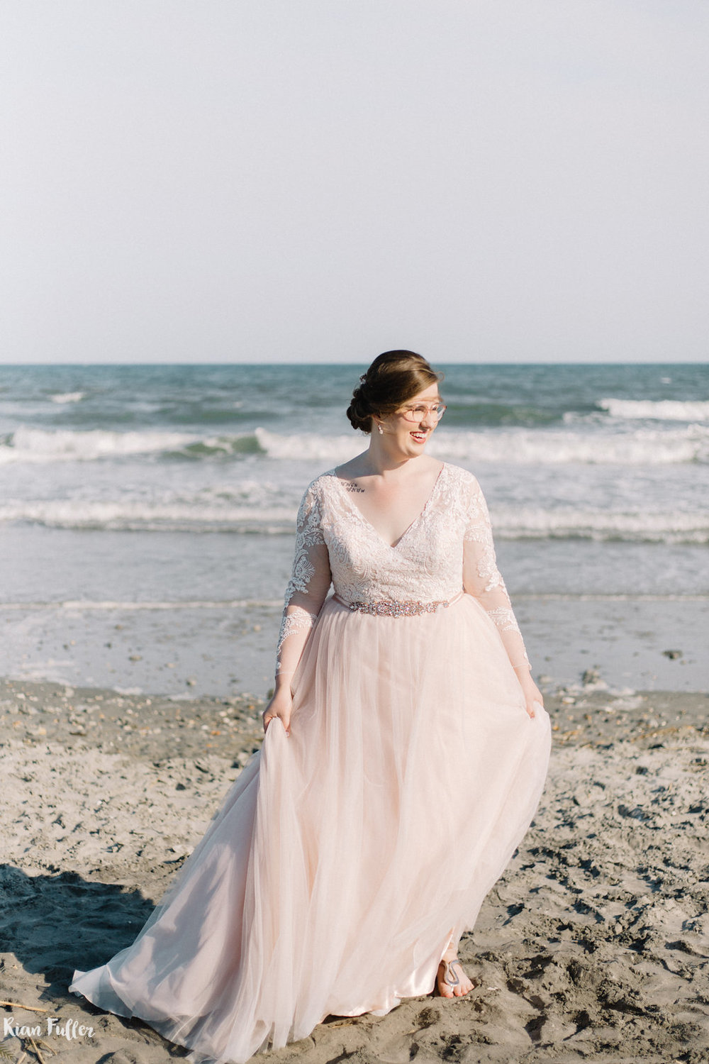 Plus Size Bride On Beach