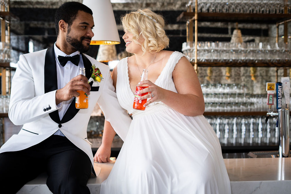 Bride & Groom Drinking | Summerside Photography