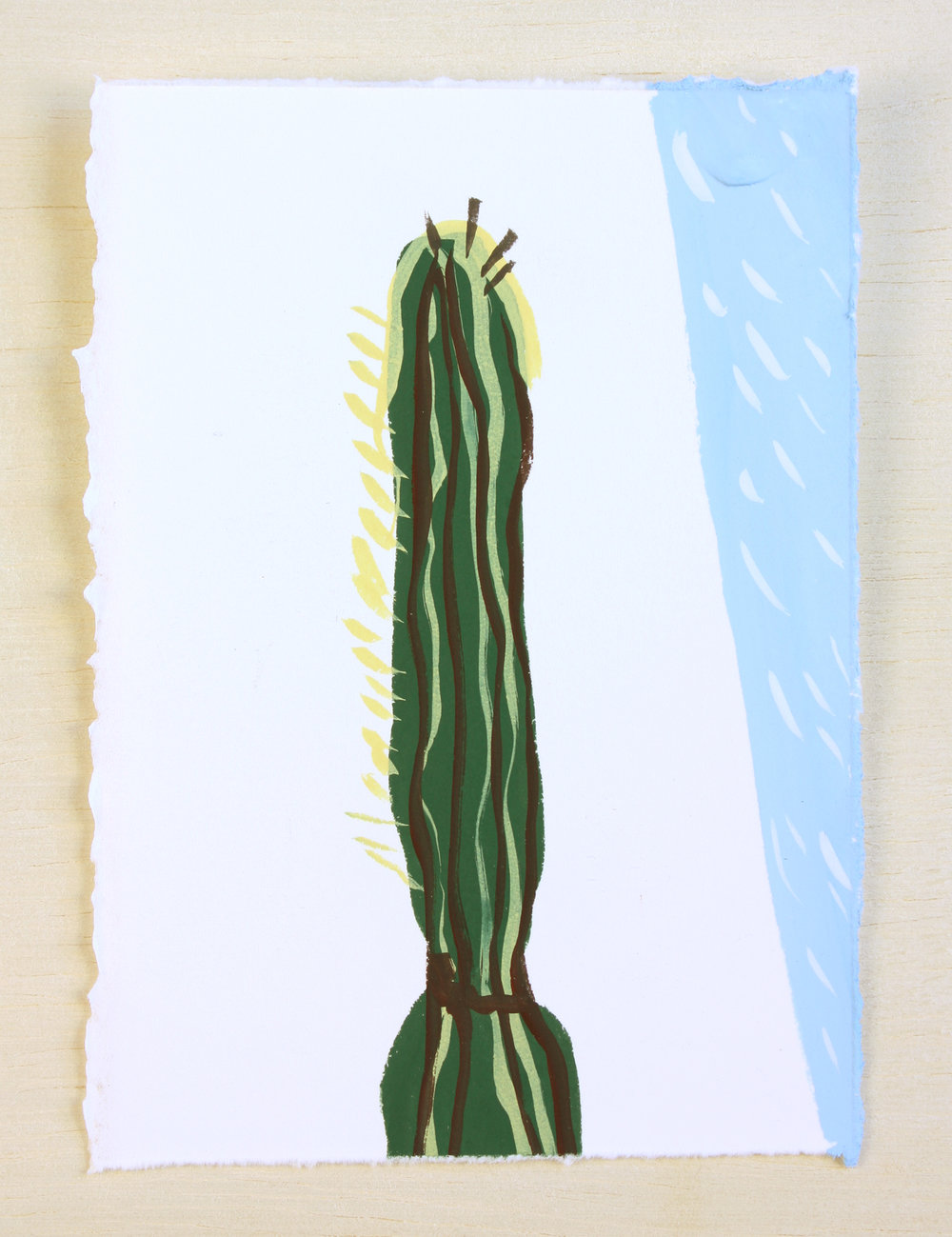 Saguaro with Blue (sold)