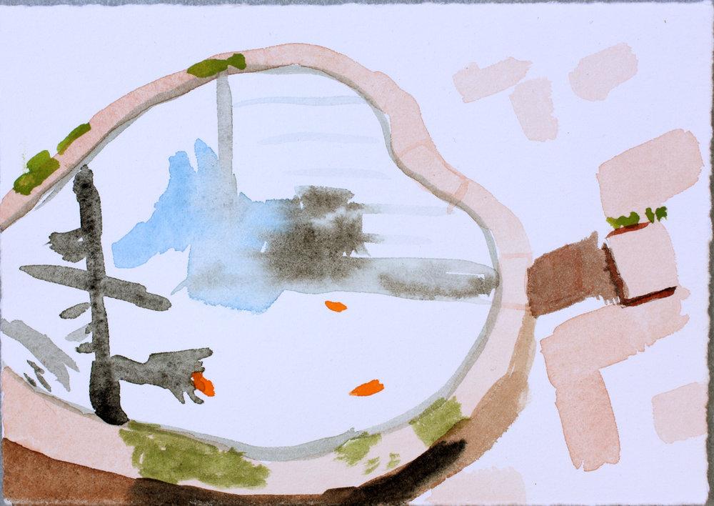 Francis's Backyard Fish Pond, Lafayette #2 (sold)