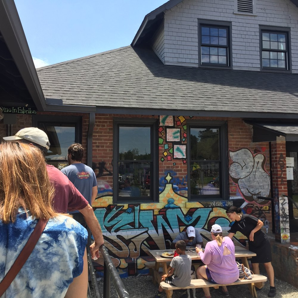 In line for lunch at 12 Bones