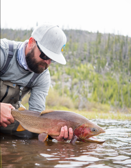Cortney Boice with a High Mountain Cutthroat