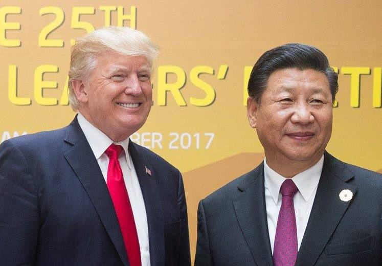 Presidents Trump & Xi at APEC Vietnam 2017  Source: US Embassy Canberra, via Wikimedia Commons