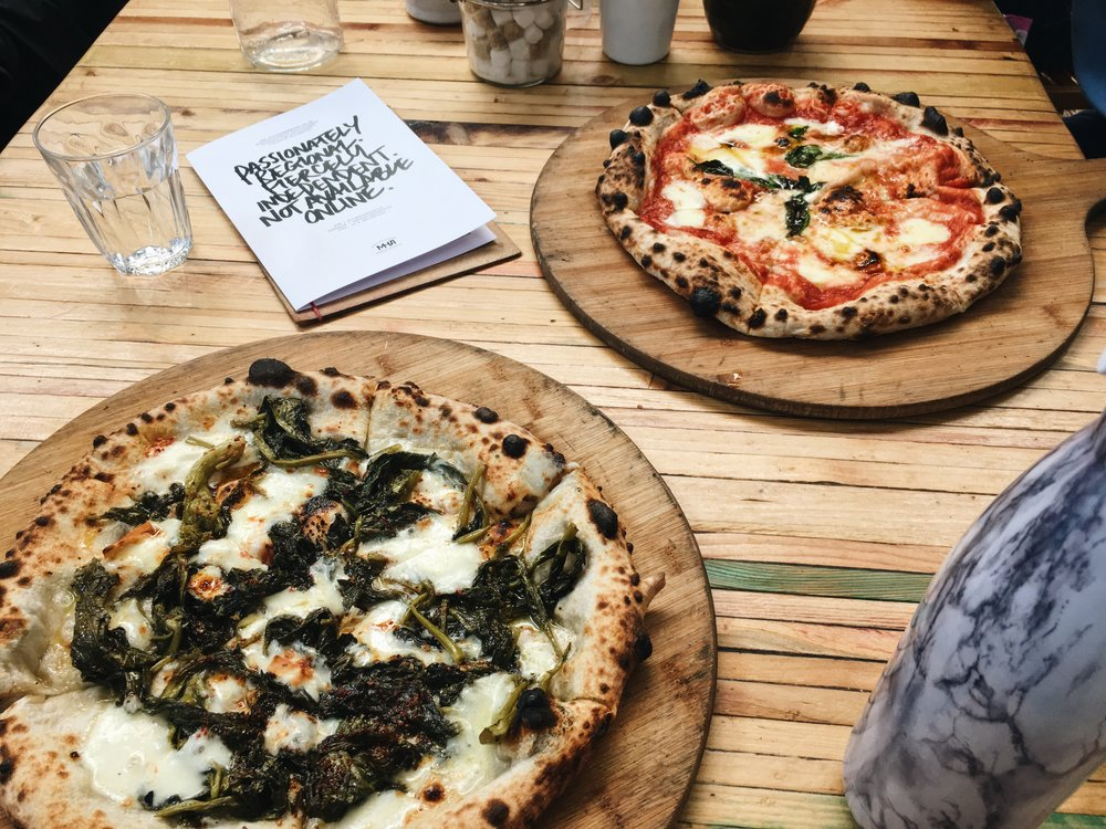 best pizza of my life. - admittedly, a phrase I say almost every timeI eat pizza... oops//@Altrinham Market, Manchester, U.K.