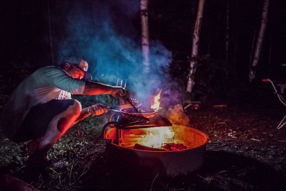 Every ATV trip is followed by camping & campfire feast!