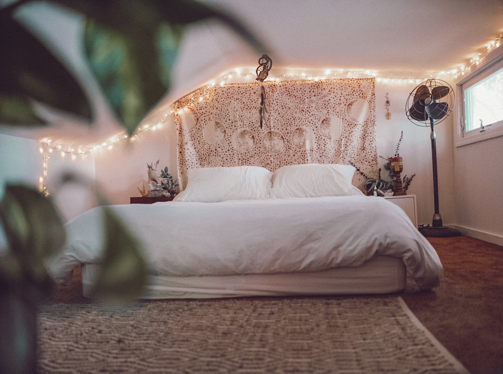 we turned the upstairs loft into our bedroom & use the first floor bedroom for guests.
