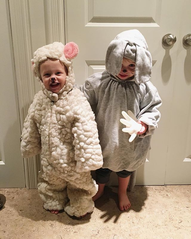 Happy Halloween from our little sheep and mouse! 🐑🐭