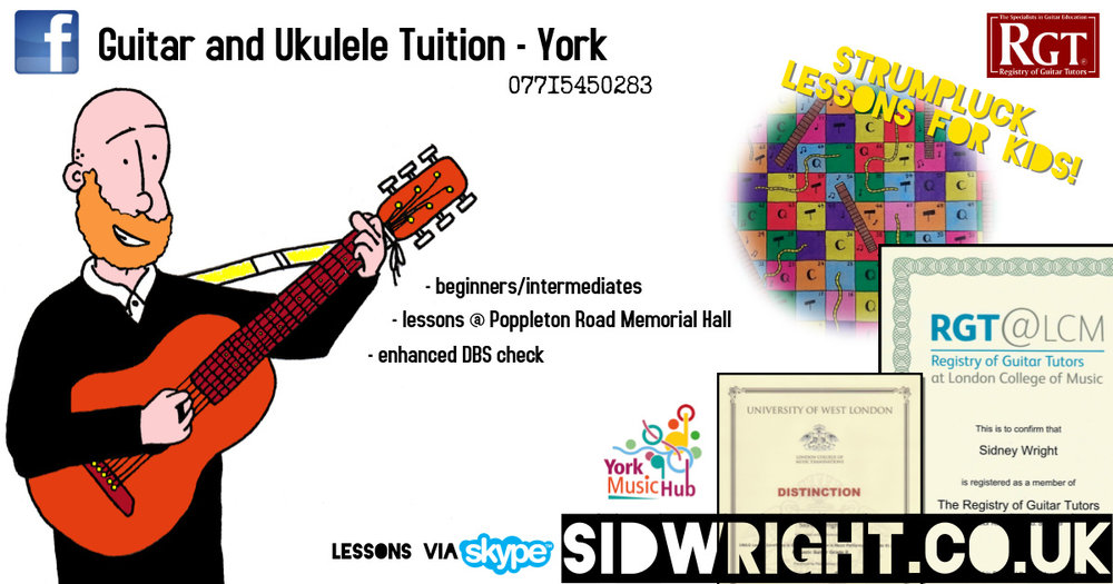 Tuition poster for Sid Wright sidwright.co.uk