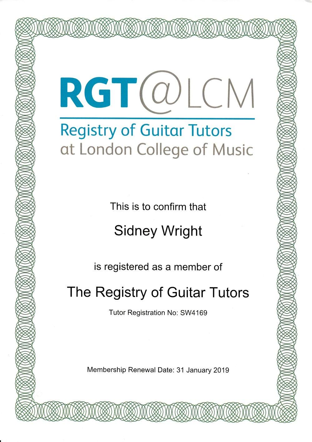 Sid Wright RGT sidwright.co.uk