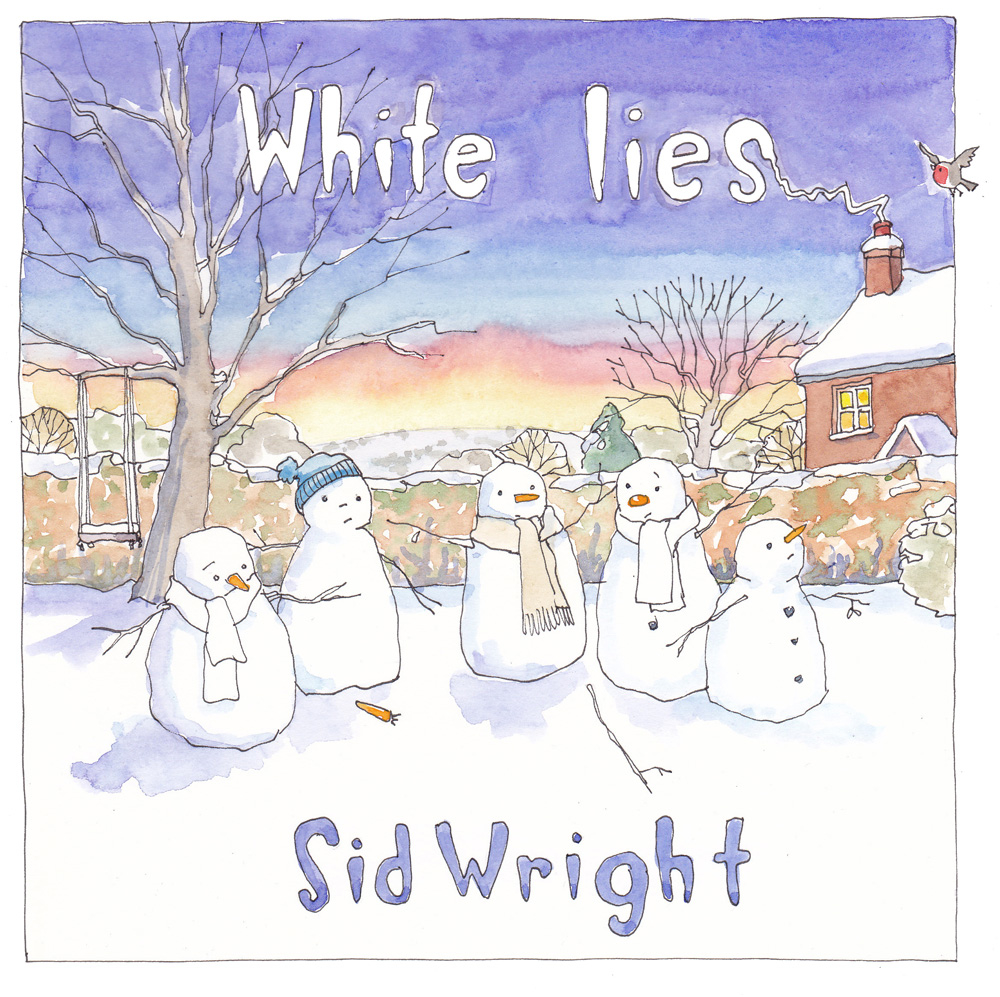 White Lies EP Best Of album cover by Sid Wright sidwright.co.uk