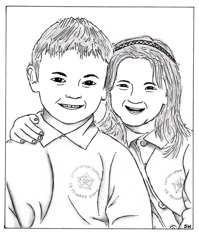 'Portrait 2' cartoon by Sid Wright sidwright.co.uk