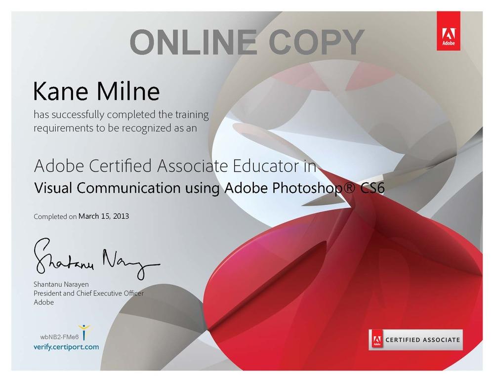 2013 Adobe Certified Educator