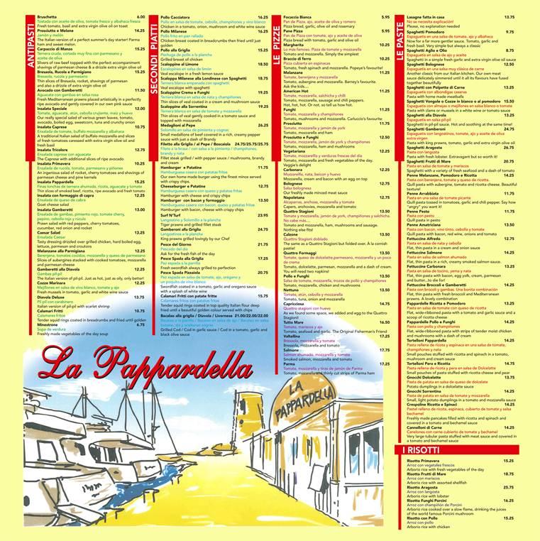 Our menu at Laguna Village