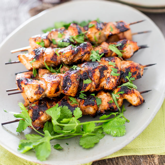 Beer & Honey BBQ Chicken Skewers