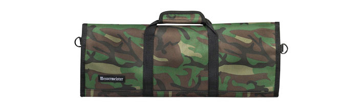 MESSERMEISTER: 12 POCKET CAMOUFLAGE PADDED KNIFE ROLL