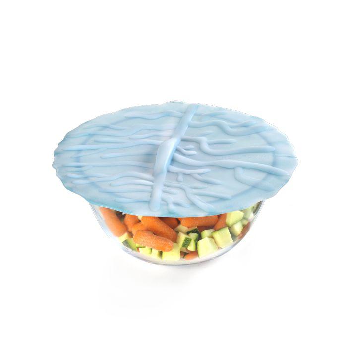 Charles Viancin: Coral Blue Lid 11in.