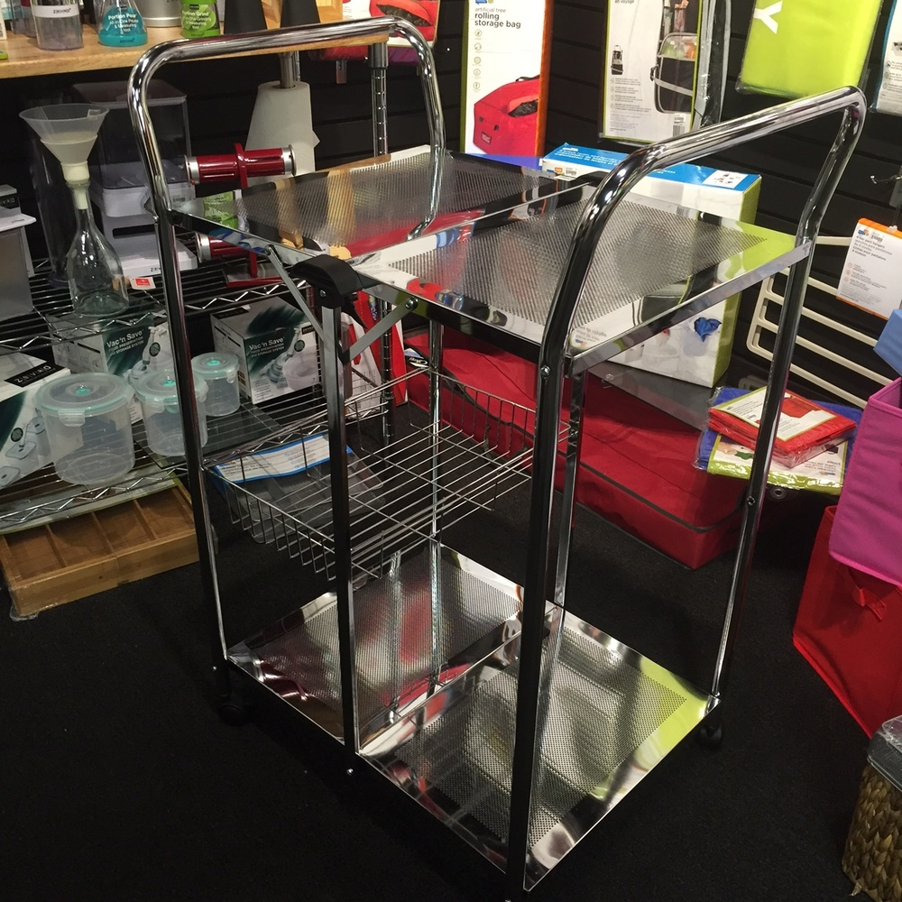 Honey Can Do: Folding Utility Table, Chrome