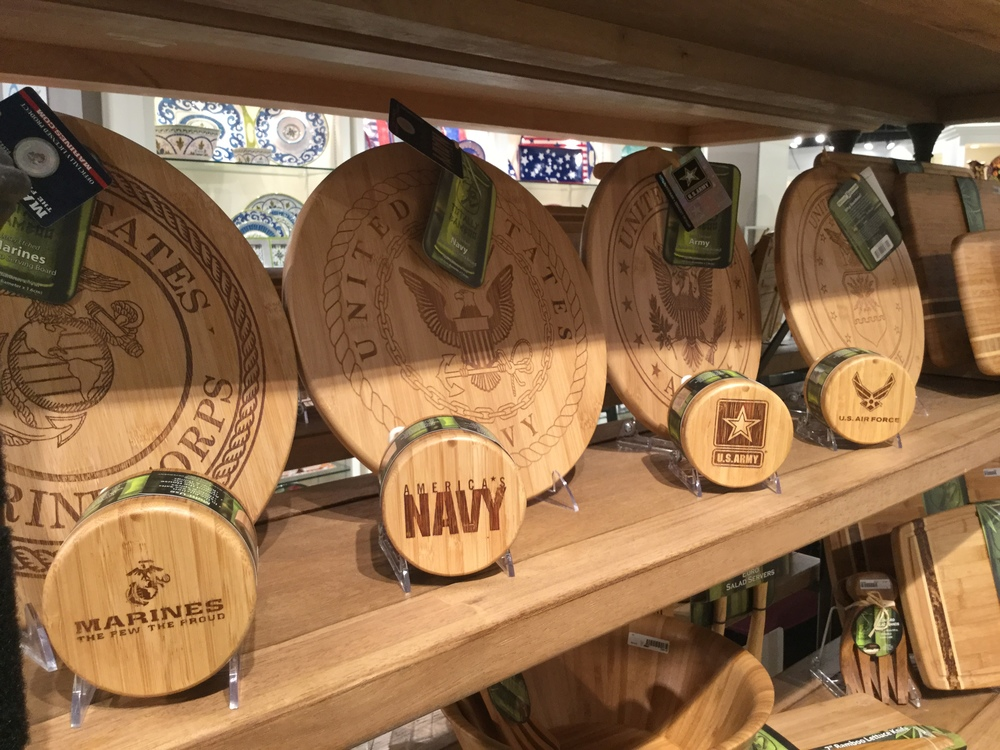 Totally Bamboo Military Serving Boards/ Salt Box