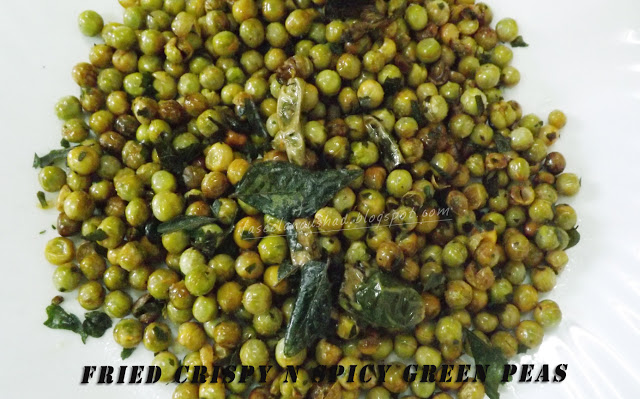 Fried Crispy n Spicy Green Peas
