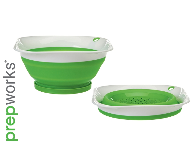 Prepworks Thinstore™ Collapsible Square Colander - 3 qt