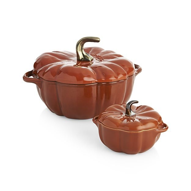 16-oz Petite Pumpkin Cocotte (Burnt Orange)