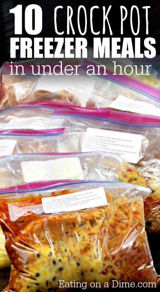 20 Crockpot Freezer Meals for Two Peop