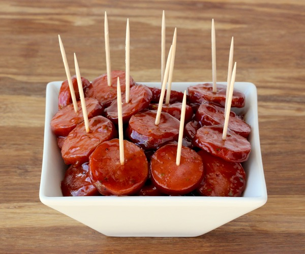 Crock Pot Kielbasa Bites Recipe! {BBQ Ranch}