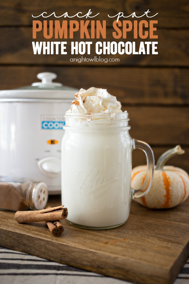 Crock Pot Pumpkin Spice White Hot Chocolate
